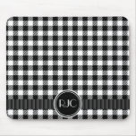 Black And White Gingham Plaid Pattern Personalized
