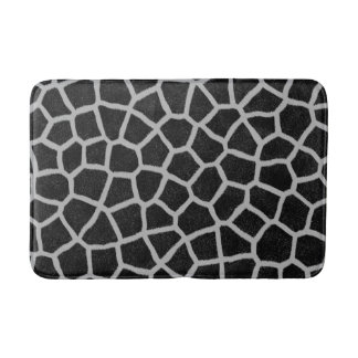 Black and White Giraffe Print Bath Mat