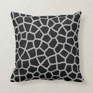 Black and White Giraffe Print Throw Pillow