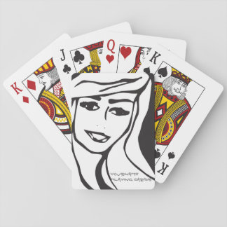 Black and White Girl Customized Playing Card