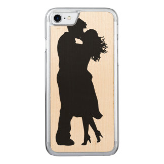 Black and White Girlfriend and BoyfFriend Carved iPhone 8/7 Case