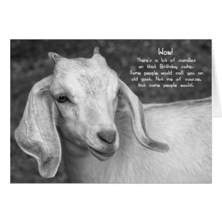 Black And White Goat Birthday Card