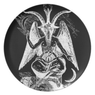 Black and White Goat of Mendes Plate