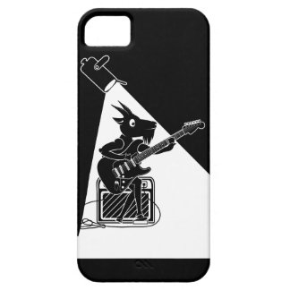 Black and white goat playing guitar case for the iPhone 5