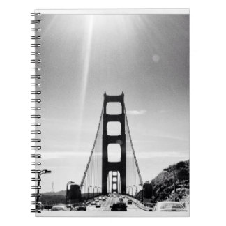 Black and White Golden Gate Bridge Notebook