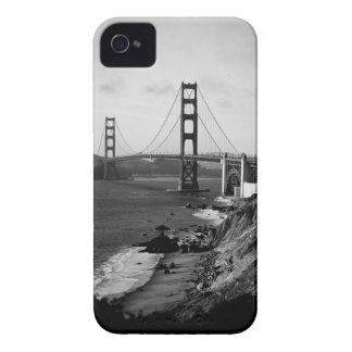 Black and White Golden Gate Bridge Photo iPhone 4 Case-Mate Case