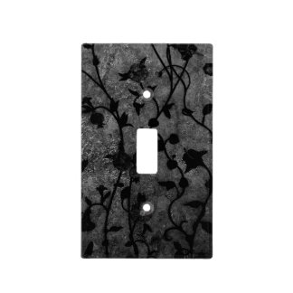 Black and White Gothic Antique Floral Light Switch Cover