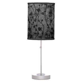 Black and White Gothic Antique Floral Table Lamp