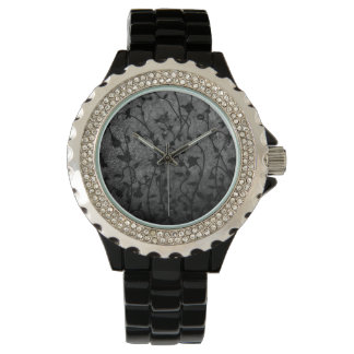 Black and White Gothic Antique Floral Watch