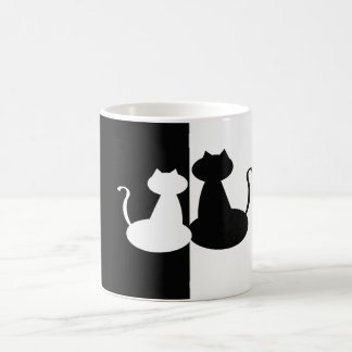 Black and White Graceful Cats Mug