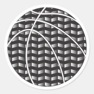 Black and White Gradient Basketball Sticker