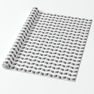 Black and White Gradient Chevron Wrapping Paper