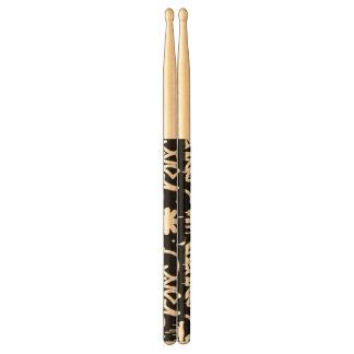 Black and White Graffiti pattern Drumsticks