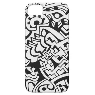 Black and white graffiti street art case for the iPhone 5
