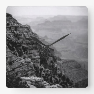 Black and White Grand Canyon Clock