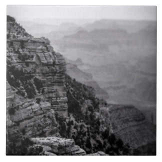 Black and White Grand Canyon Photo Tile