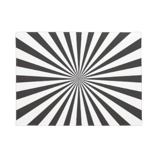 BLACK AND WHITE GRAPHIC DOORMAT