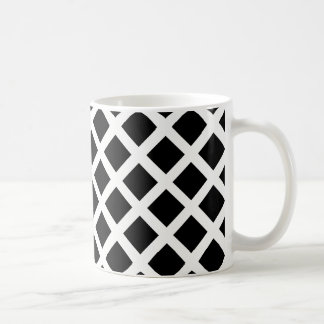 Black And White Grid Optical Illusion Pattern Coffee Mug