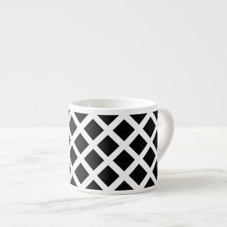 Black And White Grid Optical Illusion Pattern Espresso Cup