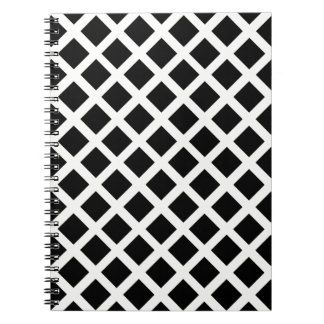 Black And White Grid Optical Illusion Pattern Notebooks
