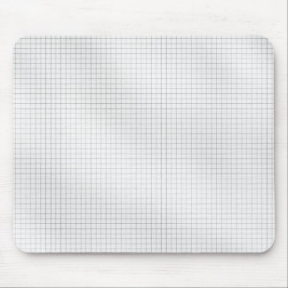 Black and White Grid Pattern on Paper Mouse Pad