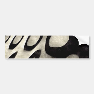 Black and White Grunge Art Bumper Sticker