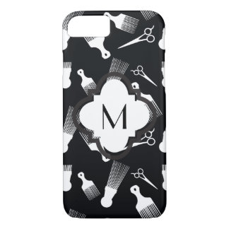 Black and White Hair fashion iPhone 7 Case