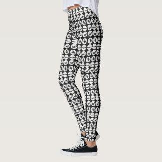 Black and White Halloween Design Leggings