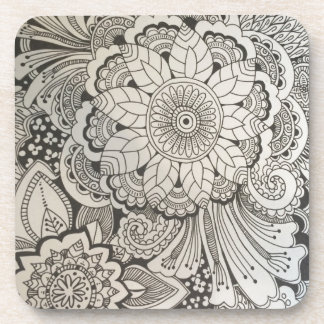 Black and White Hand Drawn Coasters