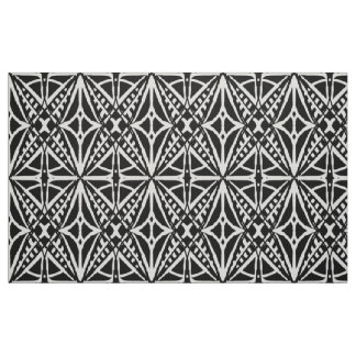 Black and White Hand Drawn Modern Fabric