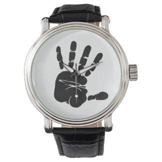 Black and White Hand Print Watch