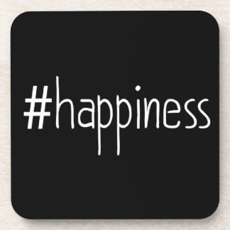 Black And White #happiness Coaster