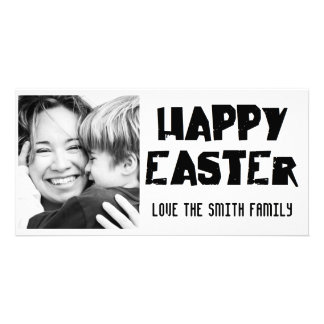 black and white Happy Easter Photo Card