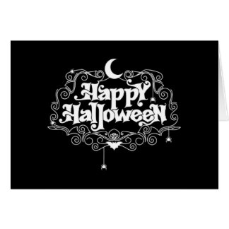 Black And White Happy Halloween Card