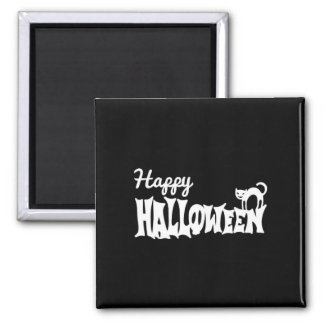 Black And White Happy Halloween Magnet