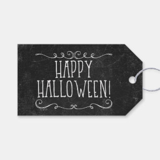 Black and White Happy Halloween Pack Of Gift Tags
