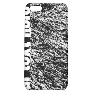 Black and white hard rock scratchy design case for iPhone 5C