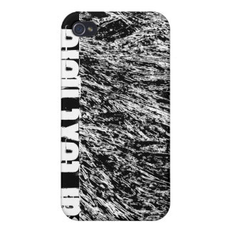 Black and white hard rock scratchy design iPhone 4 cases