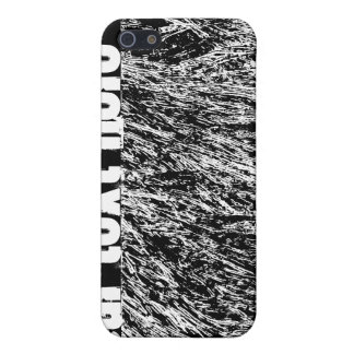 Black and white hard rock scratchy design covers for iPhone 5