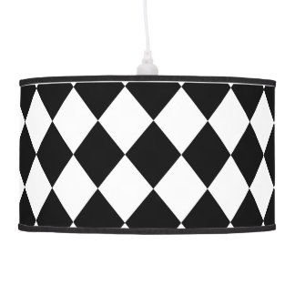 Black and White Harlequin Hanging Pendant Lamps