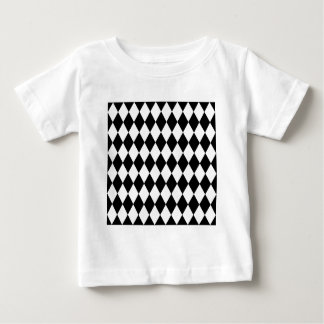 Black and White Harlequin Pattern Baby T-Shirt