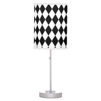 Black and White Harlequin Pattern Lamp