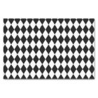 Black and White Harlequin Pattern Tissue Paper
