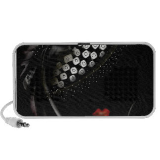 black and white hat lady.jpg mini speaker