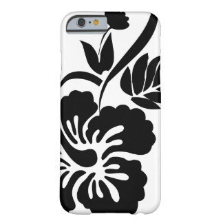 Black and white Hawaiian flowers Barely There iPhone 6 Case
