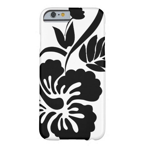 Black and white Hawaiian flowers iPhone 6 Case