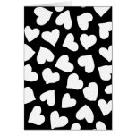 Black and White Heart Pattern Cards