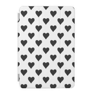 Black And White Heart Pattern iPad Mini Cover