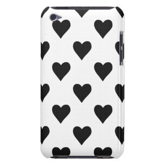 Black And White Heart Pattern iPod Touch Cases