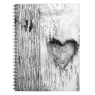 Black and white Heart Photo Notebook 80 Pages B&W)